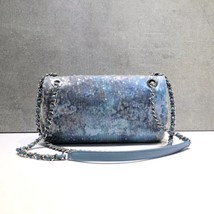 NEW AUTHENTIC CHANEL LIMITED RUNWAY BLUE SEQUIN MEDIUM  FLAP BAG RARE image 5