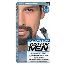 JUST FOR MEN Color Gel Mustache & Beard, M-50 Darkest Brown 1 ea Pack of 5