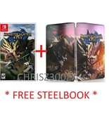 Monster Hunter Rise Nintendo Switch USA + FREE Collector's Steelbook Case - $99.90