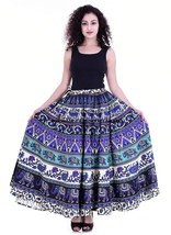Indian Long Elephant Mandala Print Skirt Boho Bollywood Dance Hippie Gyp... - $24.30