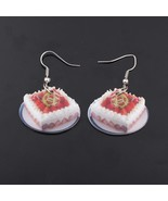 1 pair strawberry cake food drop earrings colorful new 2014 cute lovely ... - $9.18