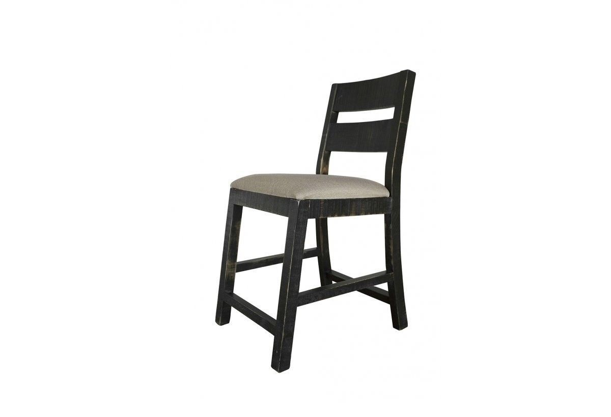 24 Inch Padded Seat Black Anton Bar stool