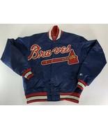 Starter Diamond Collection Vintage Atlanta Braves Satin Jacket Script Lo... - $98.99