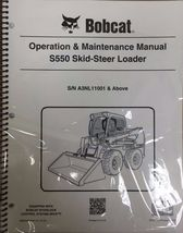 Bobcat S550 Skid Steer Operation & Maintenance Manual Operator/Owners 1 #6989493 - $23.92+