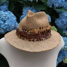 Vtg Authentic John B. Stetson Company For Indiana Jones Straw Hat Cowboy... - $90.25