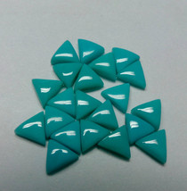 5mm Natural Turquoise Triangle 25 Pieces Cabochon Top Quality Loose Gems... - $83.78