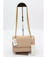 Tory Burch Fleming Stud Beige Sand Leather Small Convertible Shoulder Ba... - $328.00
