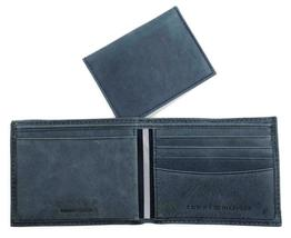 Tommy Hilfiger Men's Leather Canvas Credit Card Wallet Billfold Navy 31TL22X050 image 9
