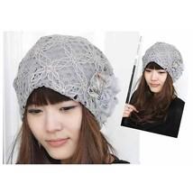 Beauty Chiffon Lace Flower Design Women Girls Warm Winter Beanie Hats Ba... - $4.80