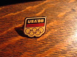 USA Olympic Pin - Vintage Seoul Korea Olympics Summer Games Team Lapel S... - $14.84