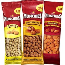 Munchies Peanut Variety Pack Salted, Flamin' Hot, Honey Roasted, 36 Count - $14.65