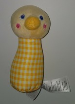 "Magic Years Yellow Duck Chick Rattle Plush 5"" Baby Toy Stuffed Animal - $11.83"