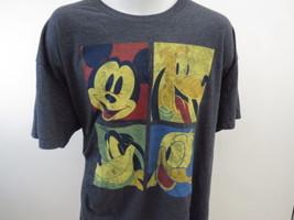 Disney Mickey Mouse Goofy Donald Duck T Shirt Mens Gray 2XL XXL A74 - $22.26