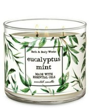 Bath & Body Works Eucalyptus Mint 3 Wick Scented Candle 14.5 oz - $27.10