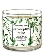 Bath & Body Works Eucalyptus Mint 3 Wick Scented Candle 14.5 oz - $27.10