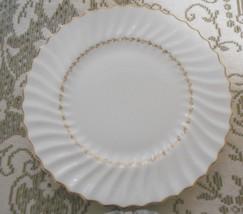 Royal Doulton Adrian Bone China Cream Scalloped Round Dinner Plate Gold ... - $12.53