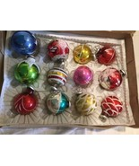 Vintage CHRISTMAS TREE ORNAMENTS  Hand Painted Glass Balls - $18.69