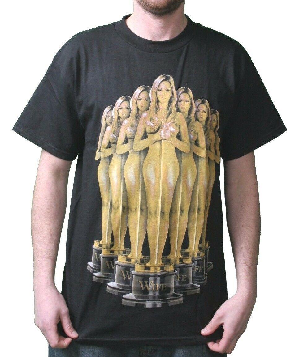 T. I. T.S.Hommes Noir ou Blanc Award Gagnant Trophy Wife T-Shirt Nwt