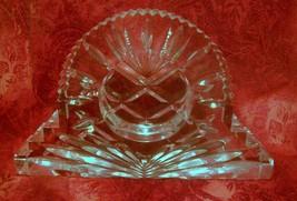 """Royal Limited Crystal Mantel Clock Blank 24% Full Lead Hand Cut - 7"""" X 4... - $13.63"""