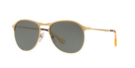 Persol Sunglasses PO7649S 106958 53MM Polarized Matte Gold Green / Gray ... - $107.56