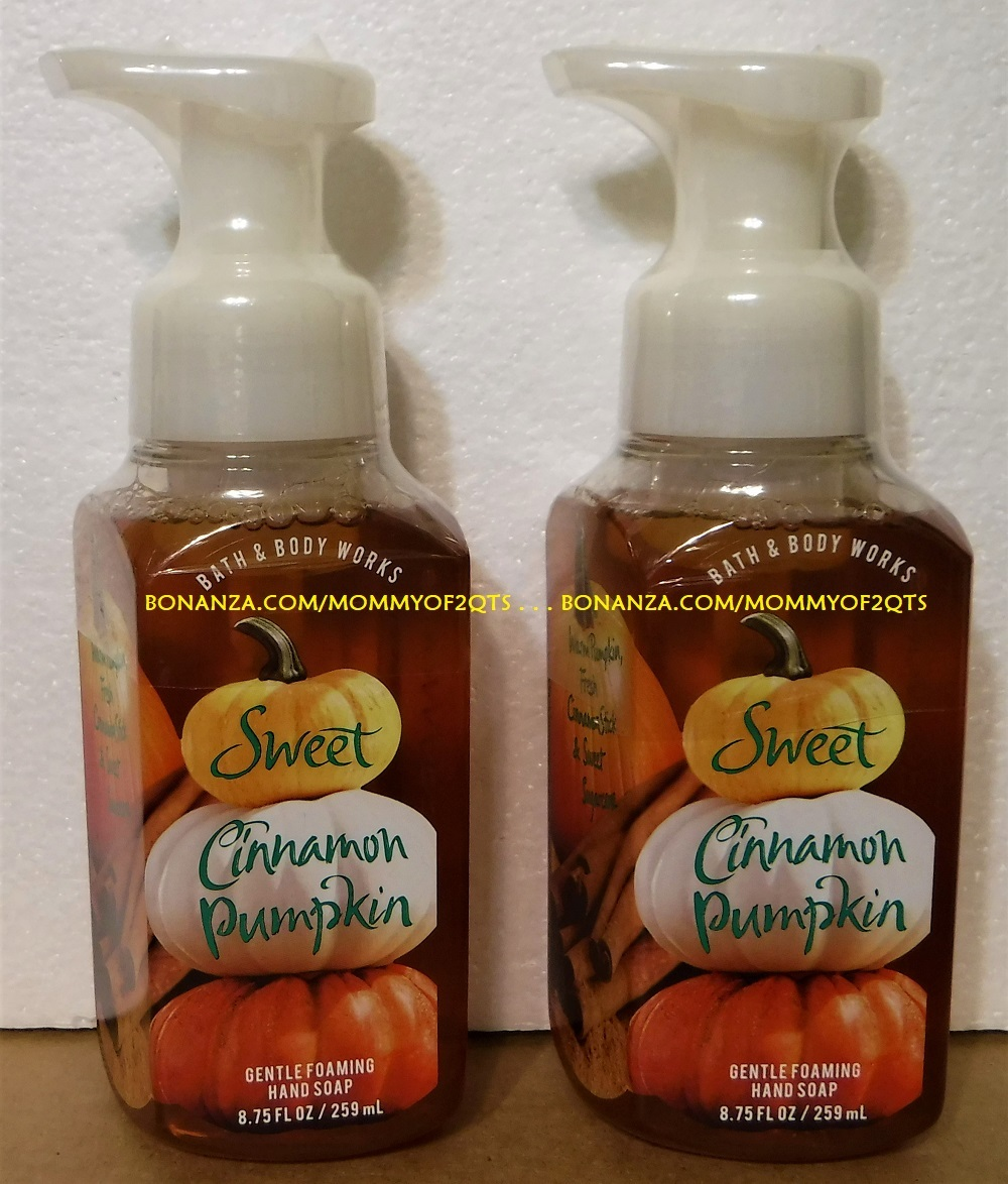 Bbw foaming soap sweet cinnamon pumpkin front with bonz text