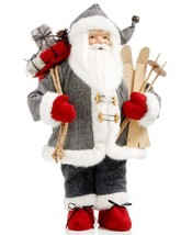 Holiday Lane 18″ Santa Holding Skis and Sack with Packages Figurine - $95.00