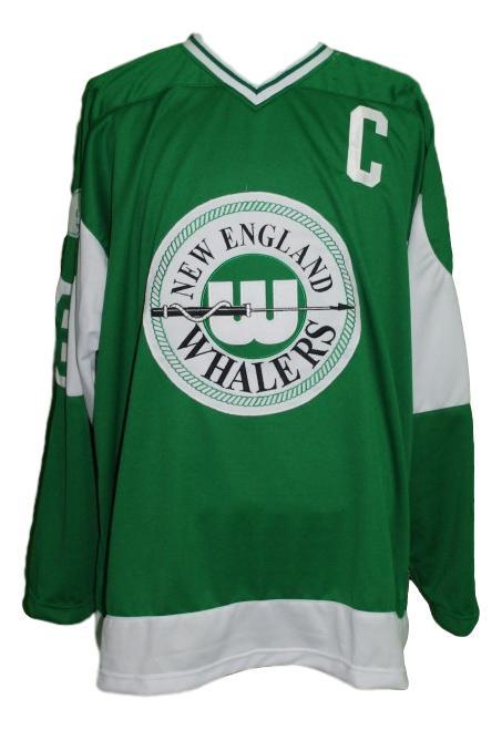 Custom Name # New England Whalers Retro Hockey Jersey New Green #6 Any Size