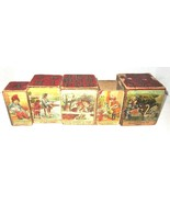 Antique Vintage Nesting Stacking Blocks Boxes Litho Toys Alphabet /Story - $50.00