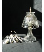 Crystal Table/Desk Electric Lamp – Flowers Design – Home Décor – Thick a... - $27.50