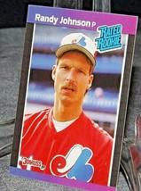 1989 DonRuss Rated Rookie Randy Johnson Pitcher  AA20-BTC3030 Baseball Trading C