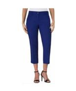Hilary Radley New Women's Stretch Slim Leg Crop Pant, Mazarine Blue,Size 2 - $14.84