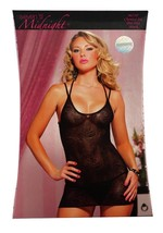 Women's Seven 'Til Midnight 2 Pcs Lingerie Lace Chemise Set Black 9671P One Size image 2