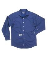 NEW CLUB ROOM BLUE/BROWN FLORAL PRINT PERFORMANCE DRESS SHIRT SZ M(15.5 ... - $8.90
