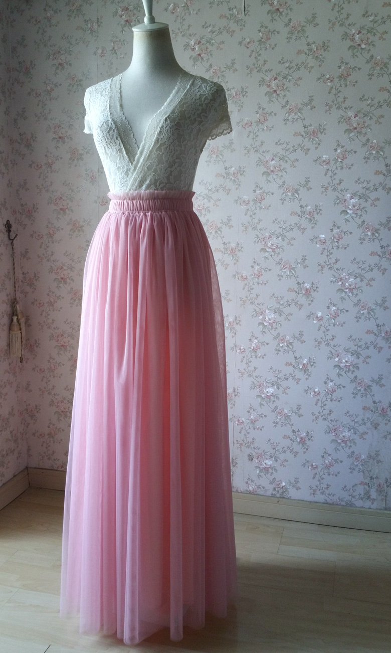 Rosepink 42 maxi tulle skirt 780 4