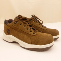 CONVERSE ALL STAR Brown Suede Leather STEEL TOE Safety Shoes Mens 7M / W... - $24.77