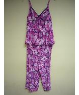 MORGAN TAYLOR WOMEN'S SLINKY PAJAMA 2PC SET 41526 Hibiscus Floral XL - $27.00