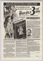 1948 Paulette Goddard UNCONQUERED Doubleday Book Club Woman Tied Up Prin... - $12.59