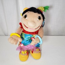 New Disney Store Lilo & Stitch Dancing Lilo Plush Doll Hula Luau Hawaiia... - $98.95