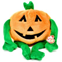 1999 TY Beanie Baby Buddy Pumkin Halloween Jack-o-Lantern Beanbag Plush Toy Doll