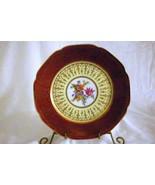 """Tierschenreuth Florals Dinner Plate 10"""" Magenta Band Gold Scrolls - $10.07"""