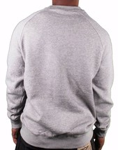 Crooks & Castles Tiger Camo Denim Men's Knit Crew Neck Sweatshirt Grey L NWT image 2