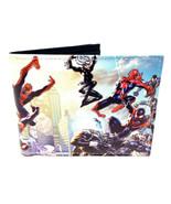 MARVEL COMICS AMAZING SPIDERMAN GROUP PHOTO SUBLIMATED PRINT MENS BIFOLD... - $14.20
