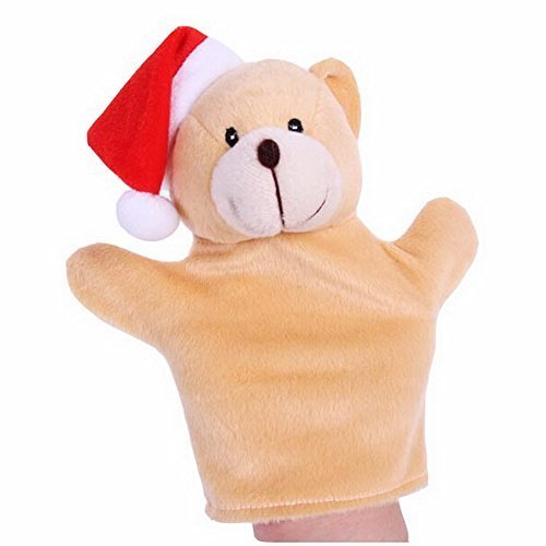 Cartoon Hand Puppet Preschool Educational Toys for Toddler(Christmas Bear)