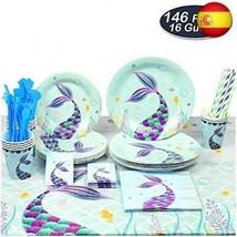 WERNNSAI Vajilla Sirena Fiesta - Suministros para la Fiesta para Chicas ... - £49.18 GBP