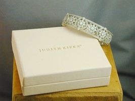 Judith Ripka Diamonique 925 Flower Filigree Hinged Cuff Bracelet In Box - $250.00