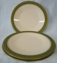 Franciscan China Mid Century Mad Men Antique Green Dinner Plate Set of 3 - $39.49
