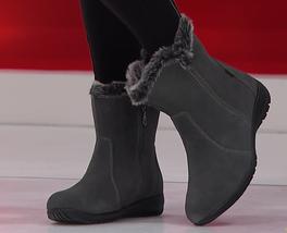 Sporto Karmen, waterproof women's suede boots,Grey 7.5M - $59.38