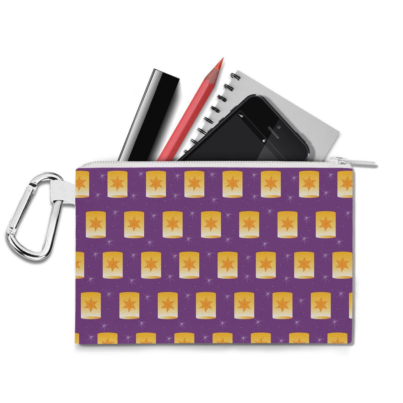 Tangled Floating Lanterns Canvas Zip Pouch