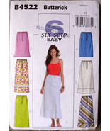 Butterick B4522 A line Skirts Easy Sew Pattern Misses' 16 18 20 22 Facto... - $10.00