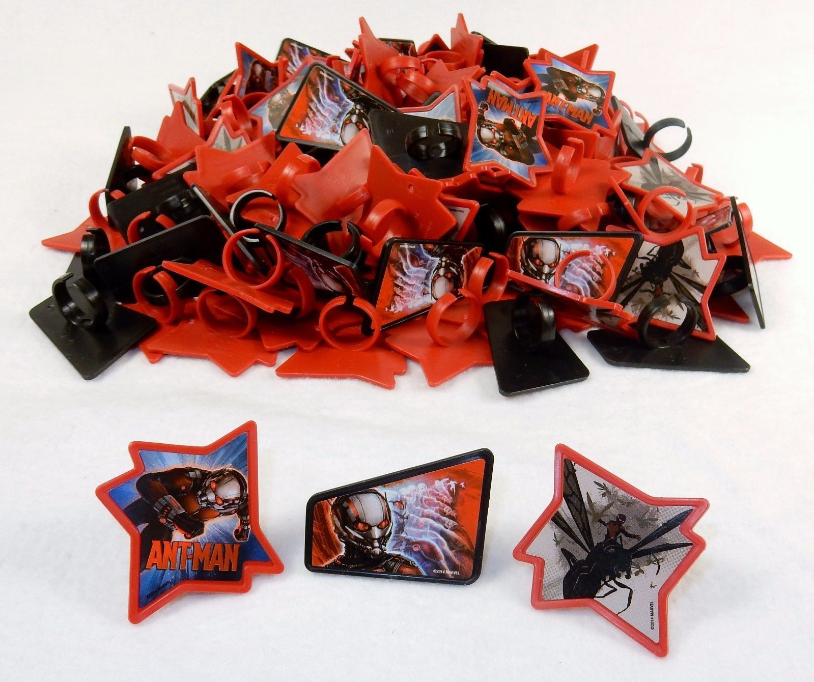 Primary image for Cupcake Toppers, Marvel Avenger Rings, Ant Man 1728 Pcs  Party Favors, Grab Bags
